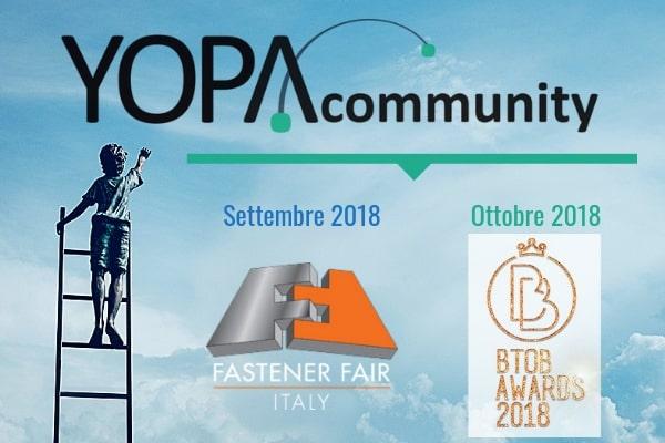 Che cosa abbiamo fatto a settembre e ottobre? Semplice: abbiamo ampliato il network della YOPAcommunity